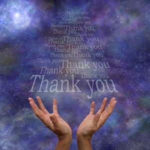 Thanking the Universe